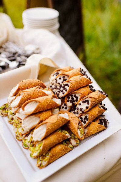 The cannoli at my wedding that Danielle will make