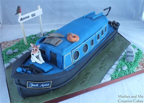 narrow boat cake - Google Search