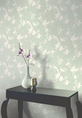 Opera Chinoise Shadow Wallpaper - Sage   Homebase