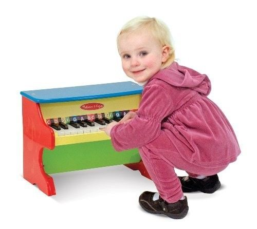 Toy Piano Keyboard Musical Instrument Keys Color Coded Songbook Learning Songs  #MelissaDoug