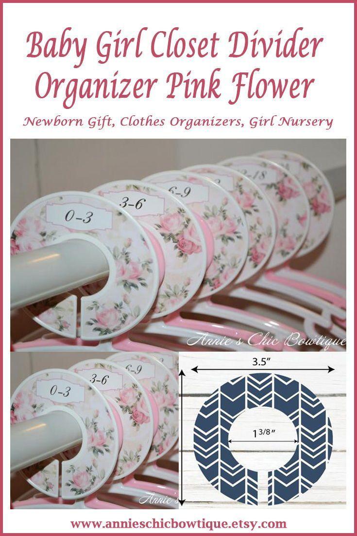 Flower Closet Dividers Pink Organizers Baby Newborn Gift Clothes Organizer Nursery C140