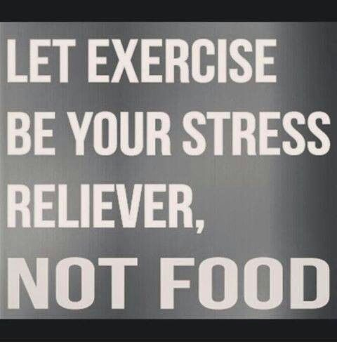 Exercise is a stress reliever