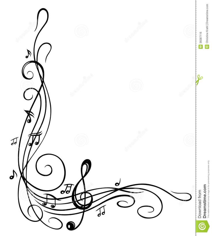 Pix For > Music Notes Border