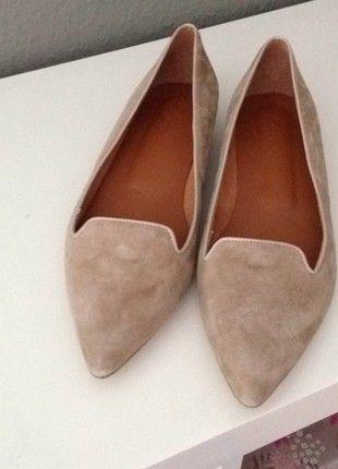 Kaufe meinen Artikel bei #Kleiderkreisel http://www.kleiderkreisel.de/damenschuhe/ballerinas/152110566-cox-wildleder-loafer-beige-natur-grosse-41