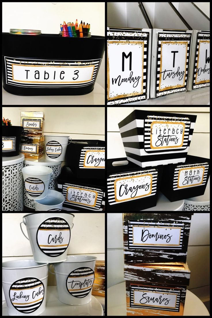 Black And Gold Editable Classroom Labels Classroom Decor Middle