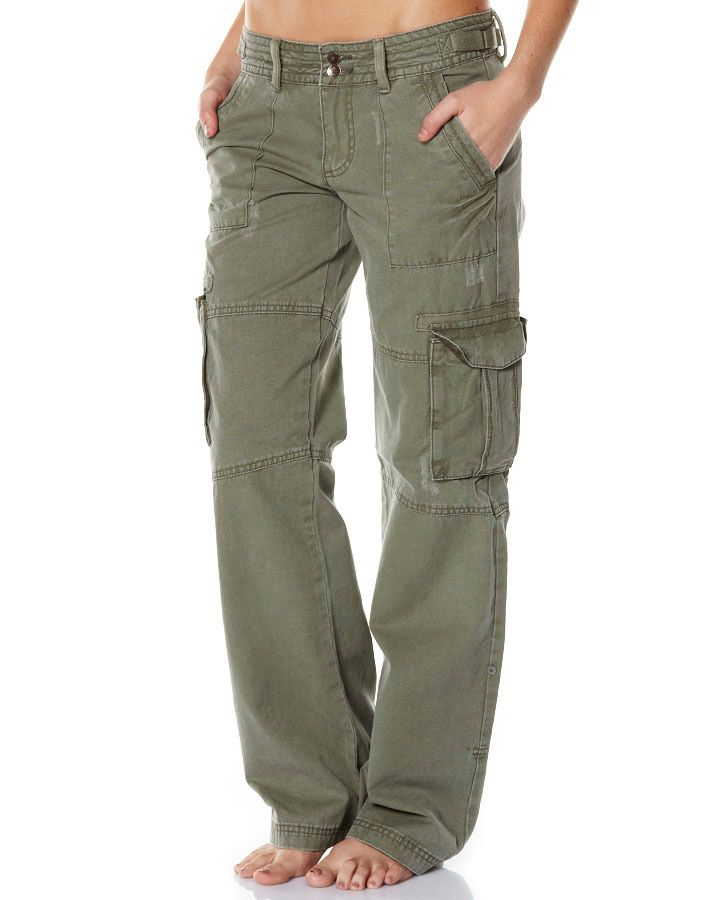 Home WOMENS PANTS CARGO PANTS HAZE CARGO PANT BY VOLCOM IN BURNT OLIVE