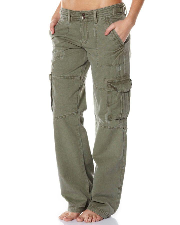 Elegant Olive Cargo Pants Womens  Pant Olo