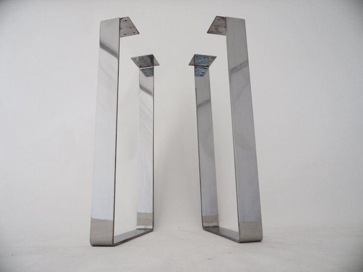 """28"""" X 14"""" Table Legs, Flat Steel Table Legs, Stainless Steel Height 26"""" -32"""" Set(2)Where To Buy Stainless Steel Table Base -Made To Order 
