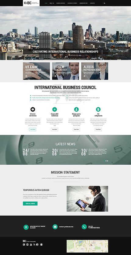 Template 55478 - Ibc Business Responsive Website Template