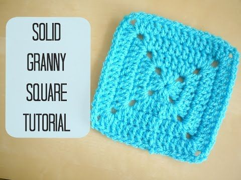 These squares are so pretty. Think I might do this with the autumn colors I have. ~CROCHET: Solid granny square tutorial for beginners | Bella Coco - YouTube