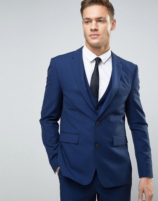 Burton Menswear – Schmaler Anzug in Marineblau