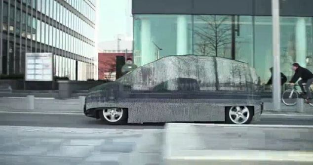 Gone in less than 60 seconds! Engineers use LEDs and a camera to create an 'invisible' Mercedes
