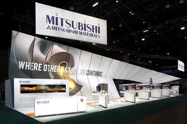 Mitsubishi exhibit at IMTS 2014 by Catalyst, Chicago – Illinois trade fairs
