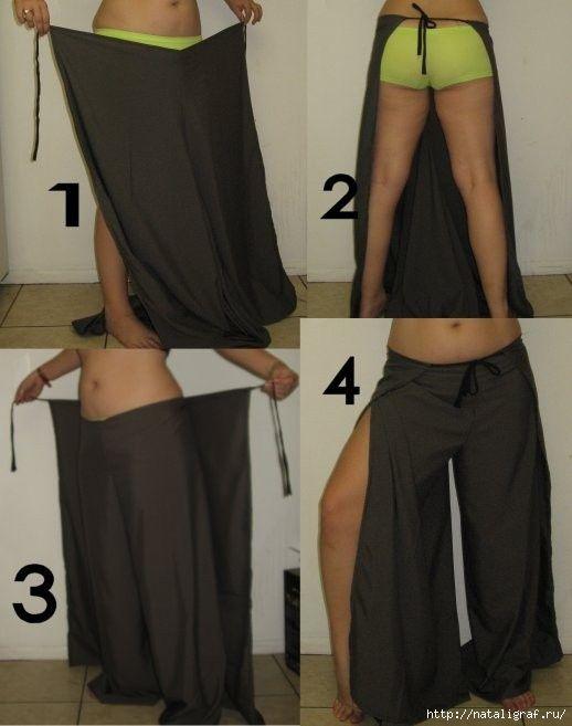Стильные брюки с запахом - простая выкройка. Обсуждение на LiveInternet - Российский Сервис Онлайн-Дневников