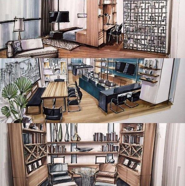 238 best dessin du0027architecture  intérieur images on Pinterest - dessiner son plan de maison