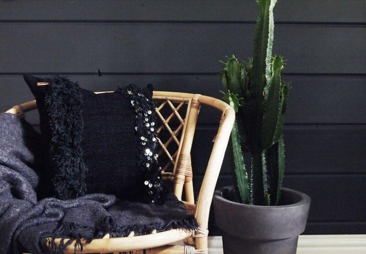 Handira pillowcase. Black on black.