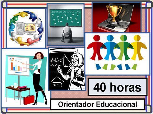O Curso de Orientação Educacional está dividido em 33 capítulos, visando a fácil compreensão do aluno ou cursista no decorrer do curso, com a finalidade de a...