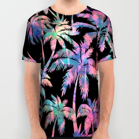 Maui Palm {Black} All Over Print Shirt by Schatzi Brown - $34.00
