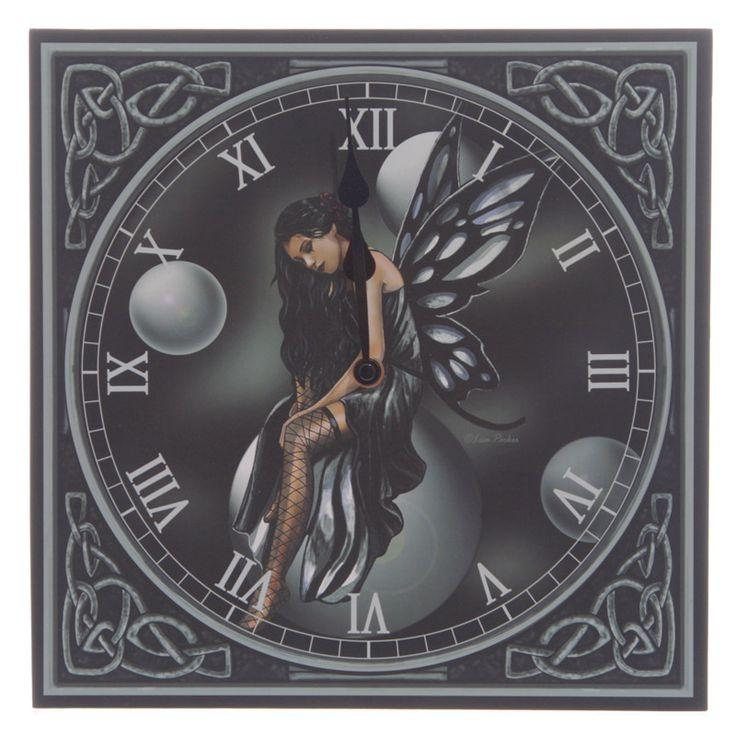 Dark Fairy Bubbles, Clock by Lisa Parker