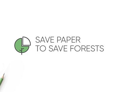 """Check out new work on my @Behance portfolio: """"Logo Save paper to save forest"""" http://be.net/gallery/60361237/Logo-Save-paper-to-save-forest"""