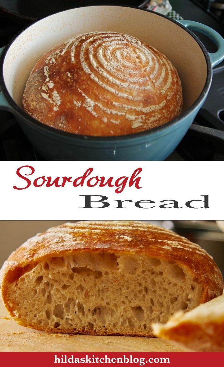 Homemade Sourdough Bread Recipe using a sourdough starter and baked in a Dutch oven. #sourdough #sourdoughstarter #sourdoughrecipe #Dutchoven