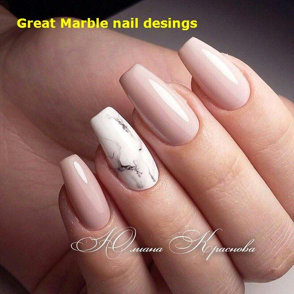 25 Marble Nail Design With Water Nail Polish 1 In 2020 Marble Acrylic Nails Acrylic Nail Designs Nail Designs