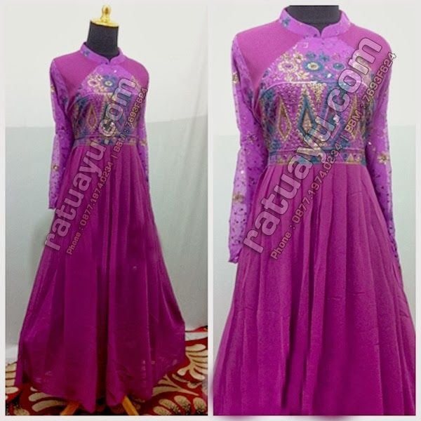 Rias Pengantin Purwokerto & Foto Video - Ratu Ayu: Gamis Gaun Pesta Sari India Model Payung : SKU00015-0003