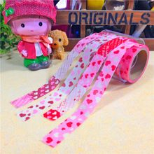 Nova 1x rosa série de amor coração padrão japonês Washi DIY fita adesiva decorativa, 15 mm * 5 m, Para Scrapbooking(China (Mainland))