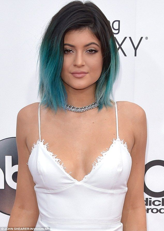 Making them green with envy: Kylie Jenner the younger's hair certainly made her stand out from the crowd