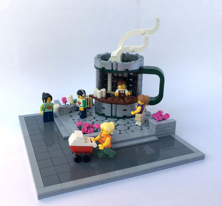 A little corner coffee vendor vignette. Here is a link to download the LDD file of the Coffee mug stand. I'll leave it to you to build your own base. It's not that hard to figure it out from the picture above. drive.google.com/open?id=0B3ME1BfzxExraXJvZzQxLWFsRHM