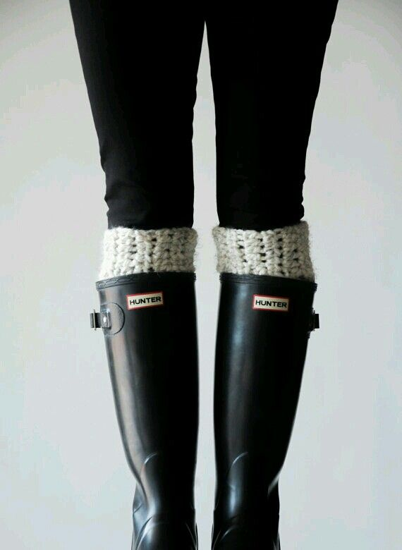 Leg warmers to wear with your rubber boots :)