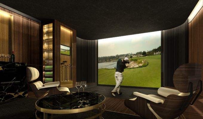 Luxury home golf simulator rooms cdclifestyle guide to for Golf simulator room dimensions