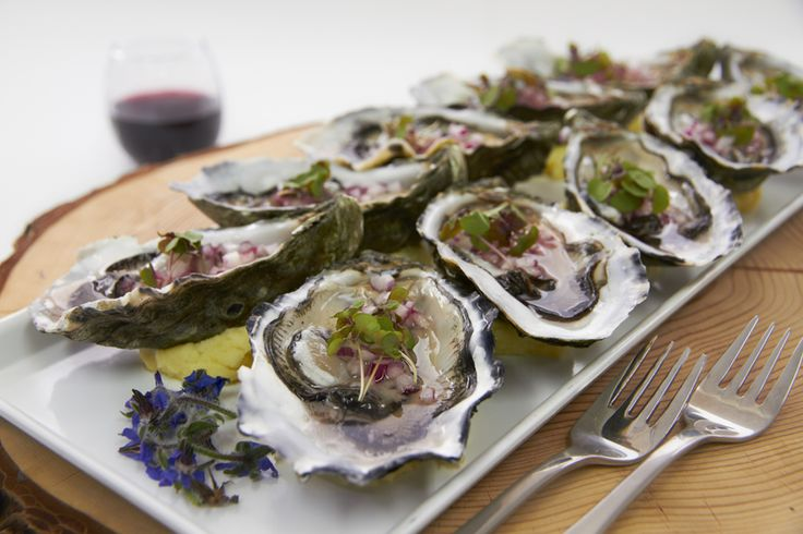 Crave Catering's  yummy Oysters Canape!