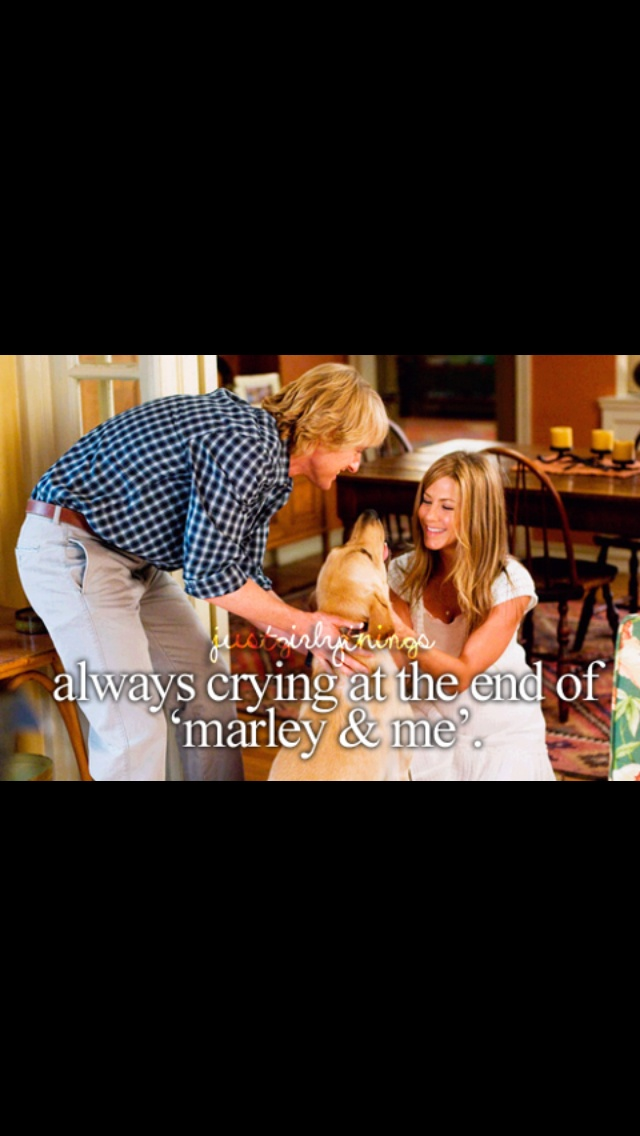 Marley and me:) I cry every time !! :(When i decided to read this in study hall...