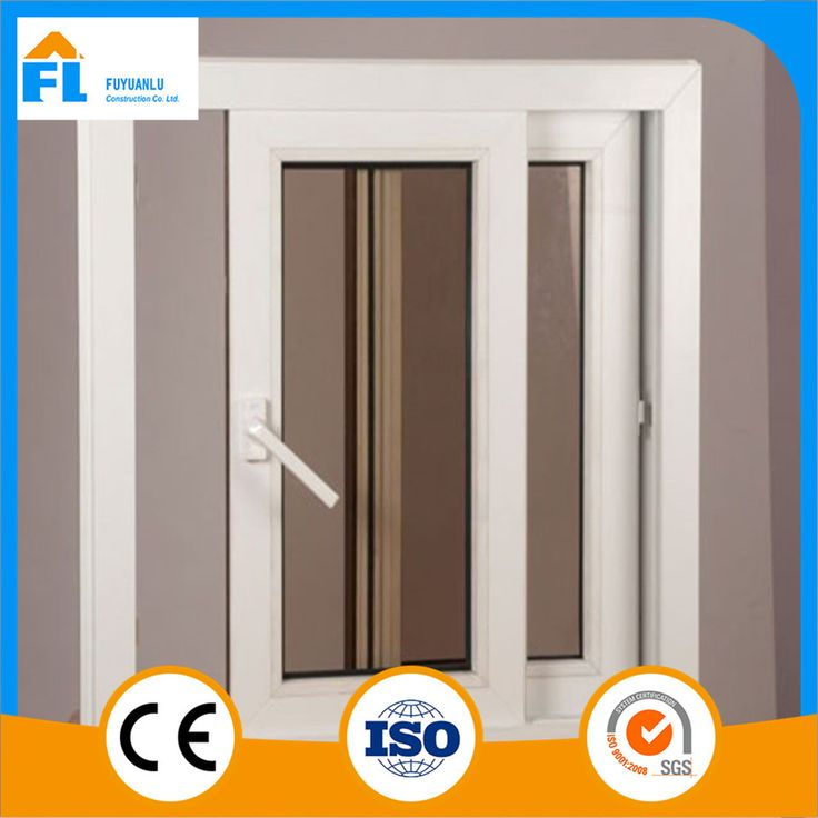 High Quality Sliding upvc double glass window and door