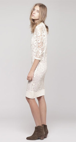 Lace dress, ankle boots.Marant Caira, Lace Minis, Clothing Dresses, Dresses 40, Caira Crochet, Caira Half, Design Fashion, Isabel Marant, Crochet Lace