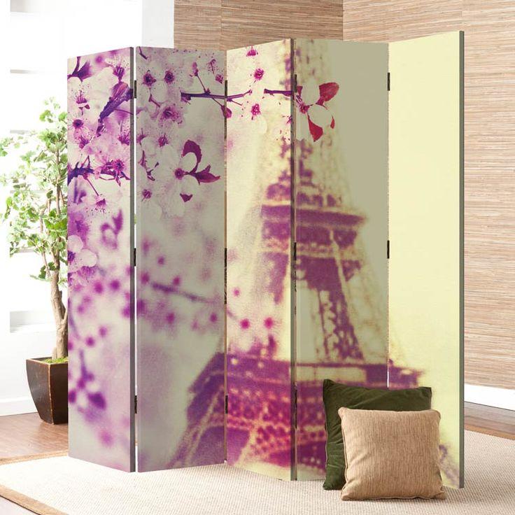Πεντάφυλλο παραβάν!  Επιλέξτε ένα που να ταιριάζει στο ύφος του δωματίου σας!  https://www.houseart.gr/paravan/vintage/romantiko-parisi-16232 #παραβάν #πίνακες #φωτιστικά #ρολοκουρτίνες #stickers #dividers #canvas #lights #roller #wallpapers