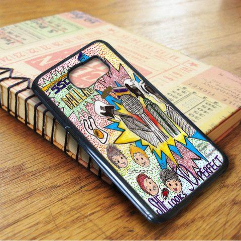 5 Second Of Summer Art 5 Sos Music Samsung Galaxy S7 Edge Case