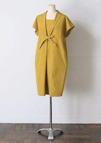 mustard colored dress
