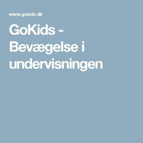 GoKids - Bevægelse i undervisningen