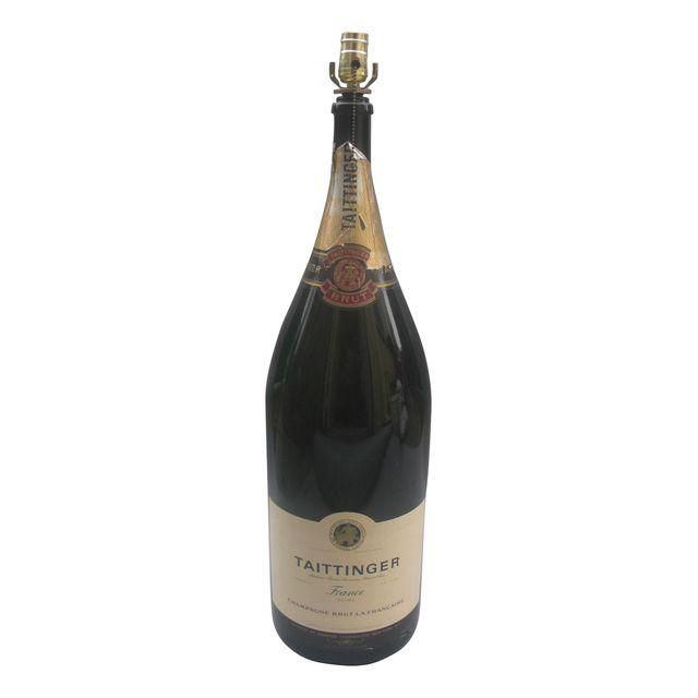 Image of Extra Large Taittinger Champagne Bottle Lamp