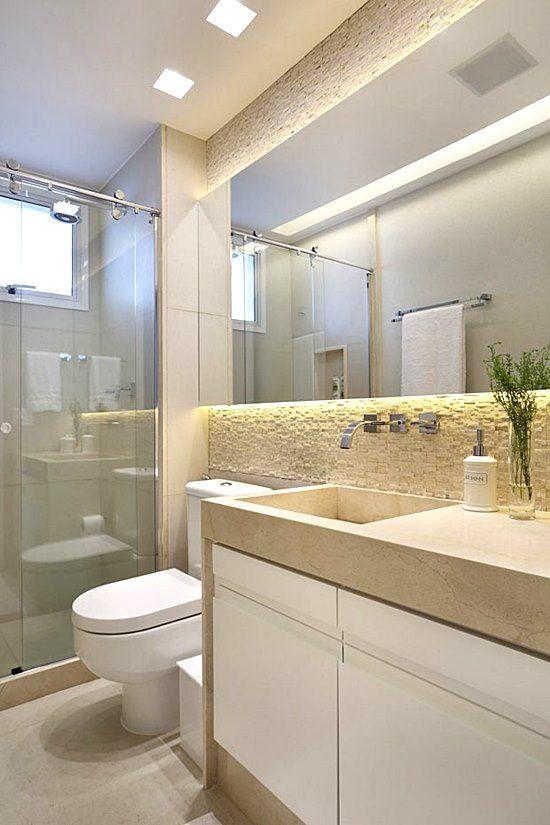 banheiro branco bege