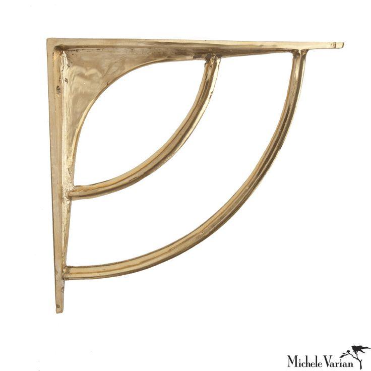 brass wall shelf bracket