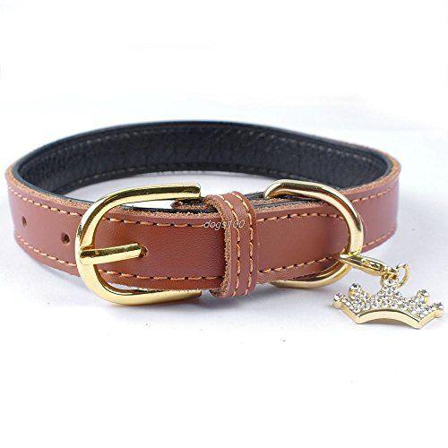 mylunn (TM) 5couleurs en cuir rembourré pour chien chiot Colliers pour chat avec joli pendentif en forme de couronne: Price:16.9 Neuf? En…