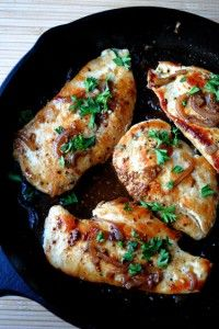 Chicken with Honey-Beer Sauce. Beer, Soy Sauce, Dijon Mustard and Honey.