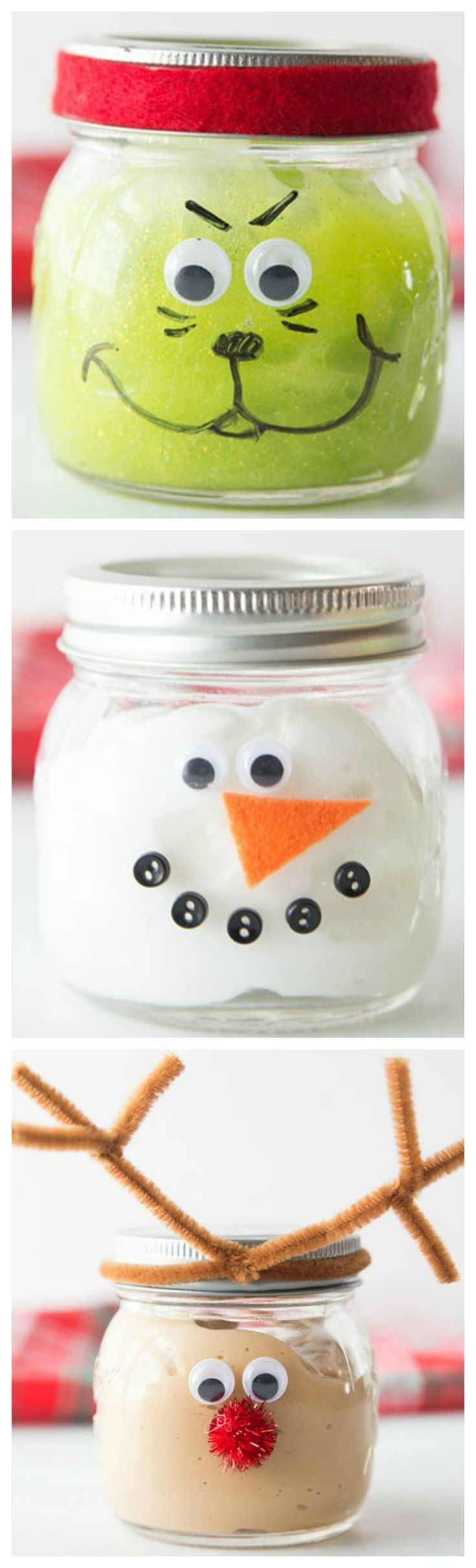 Christmas Slime ~ These would make fun Christmas gifts or would even just be a fun Christmas activity for kids to do.