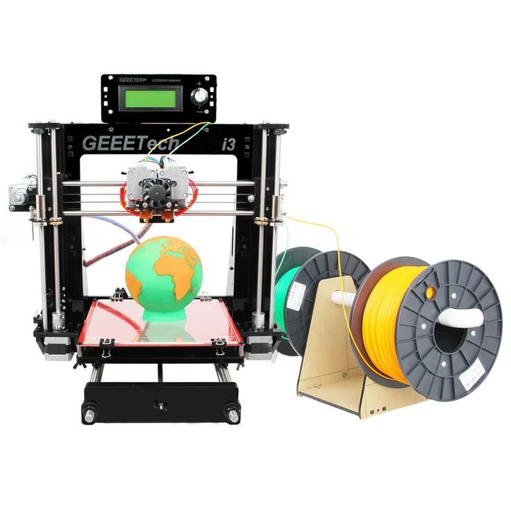 Geeetech Acrylic Prusa I3 Dual extruder MK8 3D Printer LCD2004 ship from USA - free shipping! support ABS/ PLA/Flexible PLA/Wood/Nylon #printer #ship #from #extruder #dual #acrylic #prusa #geeetech