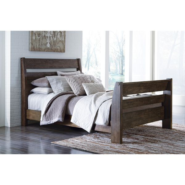 signature design by ashley emerfield brown queensize sleigh bed frame overstock shopping
