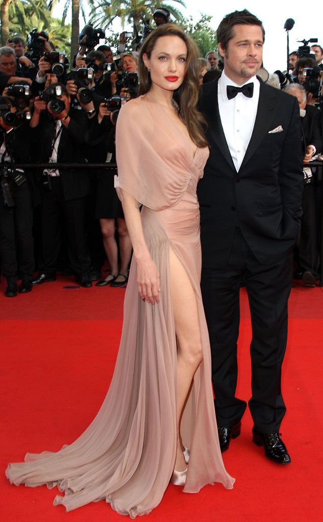Angelina Jolie in Versace at the Cannes Film Festival 2009