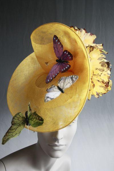 Butterfly Hat #millinery by RAINA LEHMANN #HatAcademy... like the shap for the paint canvas idea
